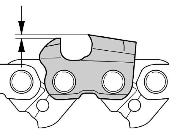 Превышение верхнего лезвия над ограничителем подачи