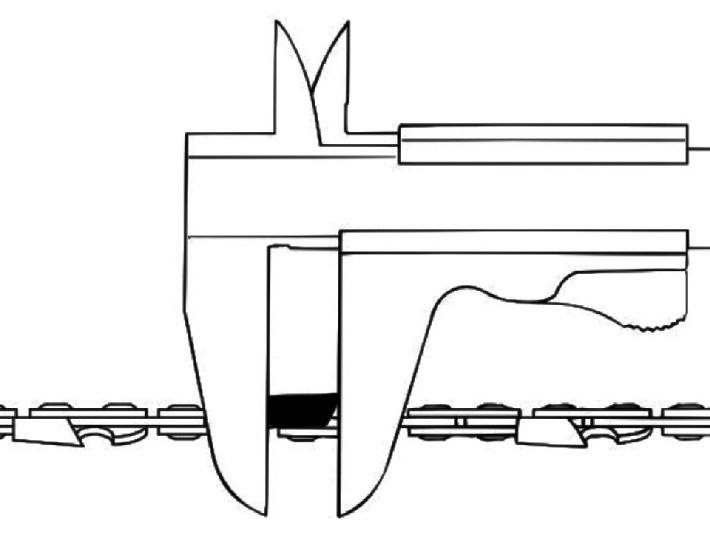 Измерение длины режущего зуба