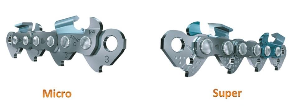 Два основных профиля цепей STIHL Micro и Super