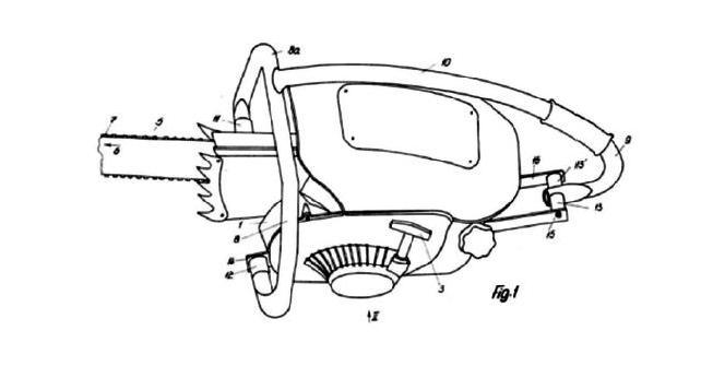 Эскиз патентного решения по антивибрационной системе пилы Contra