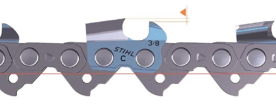 Демпфирующая конструкция режущего звена цепной пилы