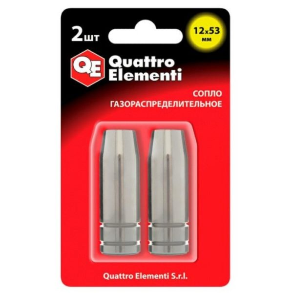 Сопло для горелок MIG/MAG QUATTRO ELEMENTI 12х53 мм.