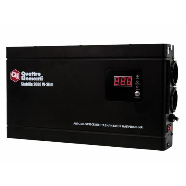 Стабилизатор напряжения QUATTRO ELEMENTI Stabilia 2000 W-Slim