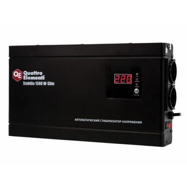 Стабилизатор напряжения QUATTRO ELEMENTI Stabilia 1500 W-Slim