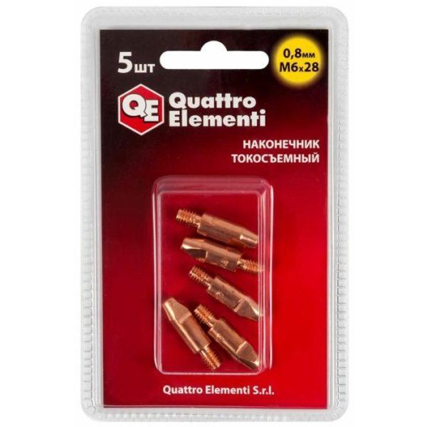 Наконечник токосъемный QUATTRO ELEMENTI 0,8 мм 6М