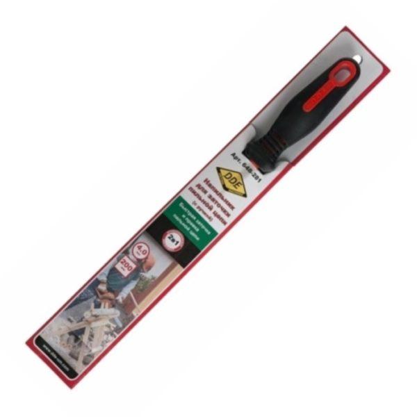 Напильник DDE круглый 4,0 мм, с ручкой