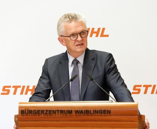 Председатель правления компании Stihl д-р Бертрам Кандзиора